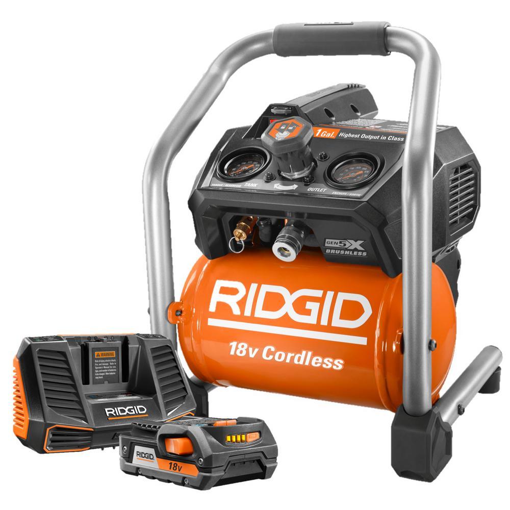 ridgid cordless air compressor